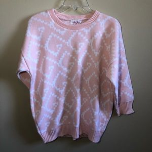 Crew Neck 3/4 Sleeve Knit Sweater Top Designs